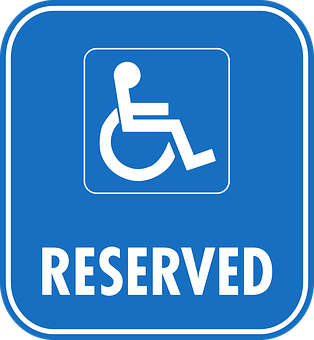 wheelchair reserved